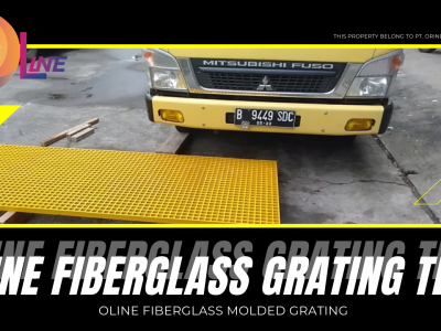Test Kekuatan Fiberglass Molded Grating!